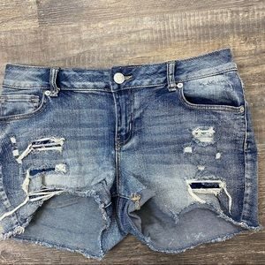 Maurices Distressed Jean Shorts